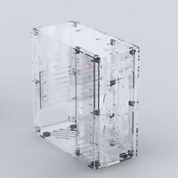 DIY Transparent Acrylic ATX Computer Case DIY Assembly box for PC Host container