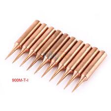 10 Copper Solder Screwdriver Iron Tips Soldering Welding Head 900M-T-I Lead Free