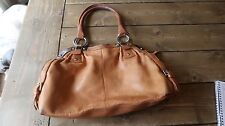 Vintage B Makowsky Brown Leather Purse Handbag Bag