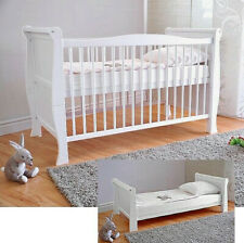 Wooden Baby Cot Bed/&Foam Mattress ✔ Converts to Junior Bed Real Bargain