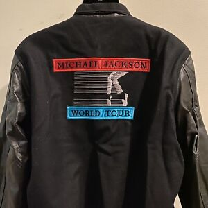 Michael Jackson BAD World Tour 1988 RARE Official Leather Jacket Large NWOT