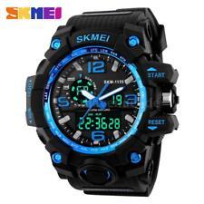 SKMEI Herren Wasserdicht LED Uhr Analog Digital Quarz Sports Manner Armbanduhr