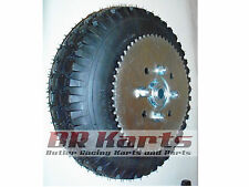 "4.10/3.50 Tire with 5"" Split Rim & Sprocket (#35 60T) for Mini Bike, Go Kart NEW"