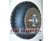 "4.10/3.50 Tire with 6"" Split Rim & Sprocket (#35 72T) for Mini Bike, Go Kart NEW"