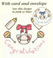 Baby Congratulations Counted Cross Stitch Kit - Mouseloft - Needle, Threads