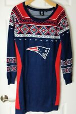 New England Patriots Sweater Dress, Woman's Red White and Blue Dress