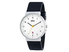 Braun Classic date Quartz watch, White, 40mm. BN0032-WHBKG