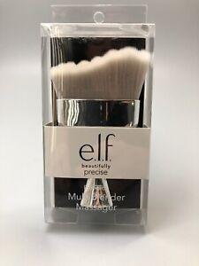 ELF Beautifully Precise Multi Blender Massager Makeup Brush Silver New In Box