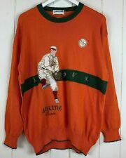 Pierre Cardin Orange Sweater Paris Athletic Team Baseball Cierra League Ball HTF