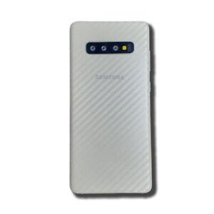 CLEAR Samsung Galaxy S10+ Plus Textured Carbon Fibre Skin Sticker Vinyl Wrap