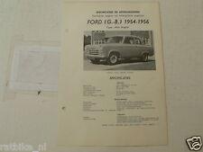 FO29--FORD ENGLAND NEW ANGLIA 1954-1957 ,TECHNICAL INFO CAR VINTAGE OLDTIMER