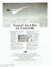 PUBLICITE ADVERTISING 116  1996   le  nouvel an à rio sur le Concorde