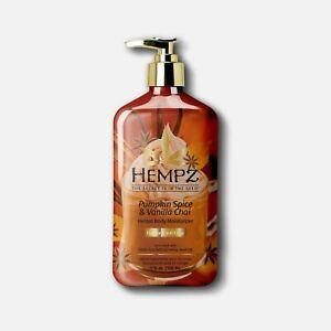 Hempz Pumpkin Spice & Vanilla Chai Herbal Body Moisturizer Lotion 17oz Limited