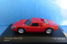 PORSCHE 904 GTS SIGNAL RED 1962 MINICHAMPS 400065722 1/43 ROUGE ROSSO ROT WAGEN