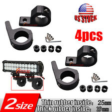 4x 1'' LED MOUNT BRACKET LIGHT CLAMP for ROOF ROLL CAGE BAR 19mm to 25mm TUBE