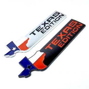 TEXAS FLAG EDITION Emblem Badge Truck Tailgate Sticker Decal Metal Chrome OEM