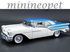 ACME A1808003 1957 OLDSMOBILE SUPER 88 1/18 DIECAST MODEL CAR BLUE / WHITE