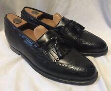 Florsheim Imperial Tassel Kilte Loafers Men's 8.5 Black Wingtips Brogue ShoesEUC