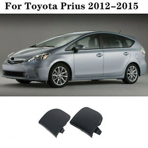 2PCS Front Bumper Tow Eye Hook Cover Cap For TOYOTA Prius 2012 2013 2014 2015