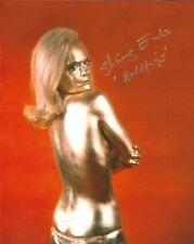Hand Signed 8x10 photo SHIRLEY EATON - GOLDFINGER - JAMES BOND Connery  + COA