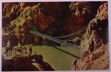 Grand Canyon Arizona Postcard Kaibab Suspension Bridge  (f095)