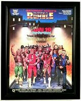 VTG WWF FRAMED ROYAL RUMBLE 8X11 WRESTLING MAGAZINE PINUP POSTER WWE WCW HOGAN