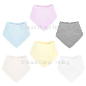 Baby Dribble|Bandana Bib Unisex Boys Girls 100% Cotton 3 Pack Bundle or Singles