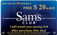 Sam's Club$20 eGift  W/ New Membership LOOK at photos on how to get sam's $20