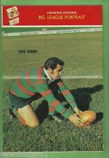 #HH1.  RUGBY BIG  LEAGUE MAGAZINE 6-7 April 1974, ERIC SIMMS SOUTH SYDNEY PINUP