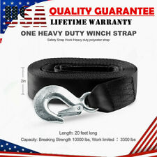 """STRENCH BOAT CAR TRAILER REPLACEMENT WINCH STRAP 2"""" x20' WITH SNAP HOOK QUICK"""