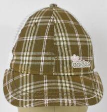 Green Plaid Design Adidas Brand Embroidered Trucker Hat Cap Adjustable Snapback