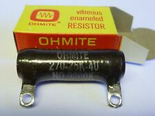 Ohmite 2-Ohm, 25-Watt Resistor Stock No. 0200K Vitreous Enamel New