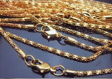 """Lot of (10) 16.5"""" 2MM Gold Plated Chains"""