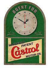 CASTROL MOTOR OIL VINTAGE  TIN SIGN CLOCK Agent for..