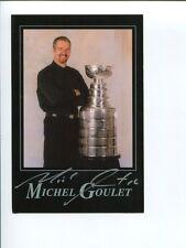 Michel Goulet Chicago Blackhawks Quebec Nordiques HOF Signed Autograph Photo