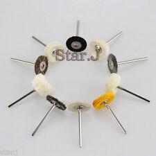 10pcs Assorted Brush Polishing Wheel Polishers for Rotary Tools HP 2.35mm