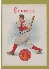 1910 LG Murad tobacco silk S21 CORNELL UNIVERSITY  Baseball Batter   TOUGH