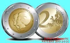 """PAYS-BAS 2013 2 EURO COMMEMORATIVE """"DOUBLE PORTRAIT""""  SUPERBE  DISPONIBLE"""