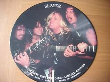 "slayer limited edition interview picture disc 12"" vinyl lp"