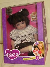"Adora Dolls CURLY WHIRLY - 20"" BABY Doll with Brunette Hair Blue Eyes 2013"