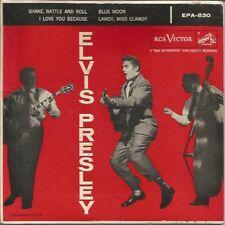 "Elvis Presley ""Elvis Presley"" RCA EPA 830 Dog on top w/ cover white print 1956"