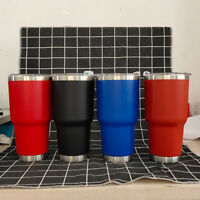 30oz Stainless Steel Vacuum Tumbler Insulated Travel Coffee Mug Cup Flask Mugs