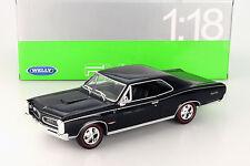 PONTIAC GTO année 1966 noir 1:18 Welly