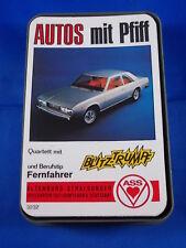 Altes Auto Quartett AUTOS MIT PFIFF von ASS Spielkarten Nr. 3232 70er Oldtimer