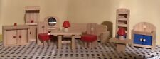 Huge Bundle Wooden Dolls House Toy Furniture Excellent Condition Kitchen Lounge
