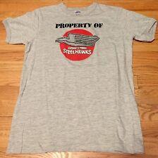 Vintage Property Of Hamilton Steel Hawks Ringer 50/50% Cotton/ Poly T Shirt. Xl