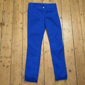 J BRAND cobalt royal blue skinny leg mid rise stretch jeans womens Size 27 L30