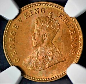 India British 1914(C) 1/12 Anna NGC MS65 RB Certified (1 Graded Higher In RB)