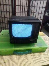 "Action 5"" black/white TV ACN-3501 TV portable set Tested"