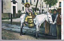 MEXICAN POSTCARD LECHERO THE MILK DONKEY C1914